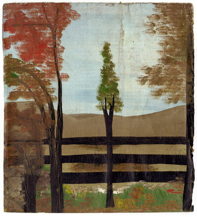 Frank Walter, 'Four Trees and Fence', c1980
