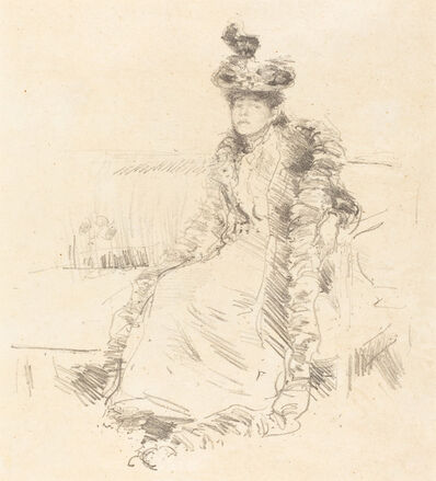 James Abbott McNeill Whistler, 'A Lady Seated'