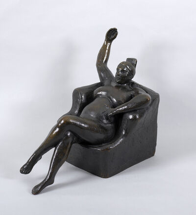 Gaston Lachaise, 'Woman in Chair (Nude in Chair)', modeled 1925, 1926/27, cast 1964