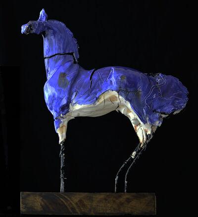 Carl Dahl, 'Enameled blue horse #2', 2017