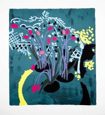 Bruce McLean, 'Light Blue Garden Seat with Violet Stalks', 2019