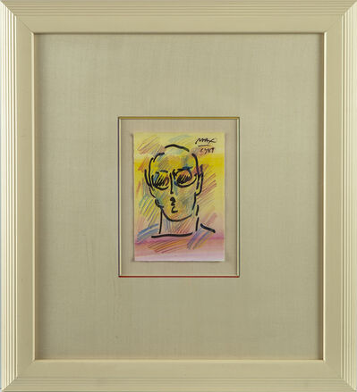 Peter Max, 'Peter Max Original Painting Neo-Man Signed Contemporary Art', 1989