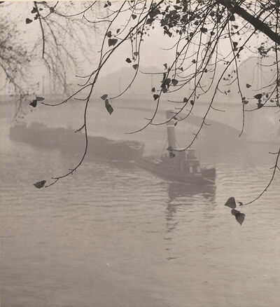 Albert Monier, 'Barge on the Seine in Fog, Paris', 1950s/1950s