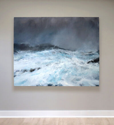 Janette Kerr, 'Sea state force 12 - Hurricane Abigail, Scatness', 2020