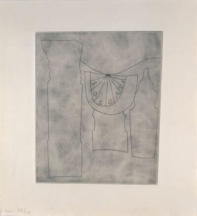 Ben Nicholson, 'Turkish sundial between two forms', 1967