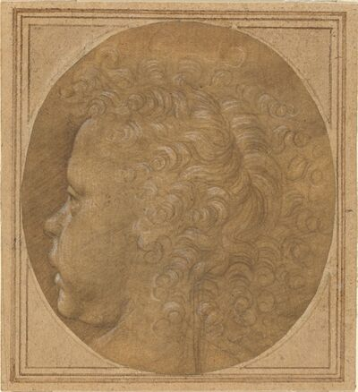 Baccio della Porta, called Fra Bartolommeo, 'Head of a Child [recto]', ca. 1490