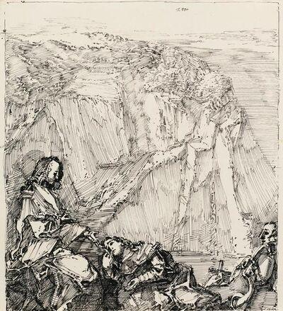 Werner Tübke, 'Kreuz in der Bucht', 1990