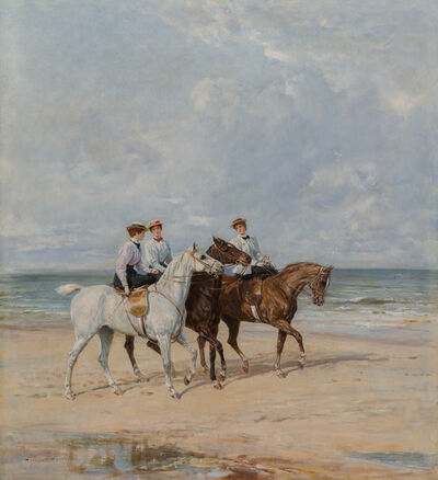 Haywood Hardy, 'Riding on the Dunes', Late 19th -Early 20th Century