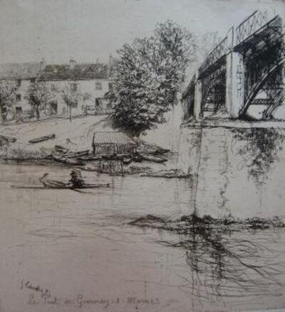 Gustave Leheutre, 'Le Pont de Gournay, de profil', 1895