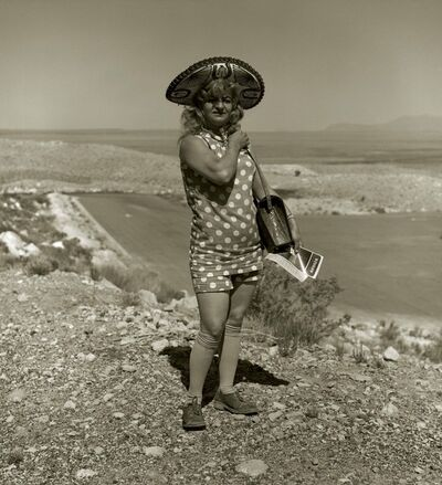 Steve Fitch, 'Tourist Lady, Highway 66, Meteor Crater, Arizona', 1971