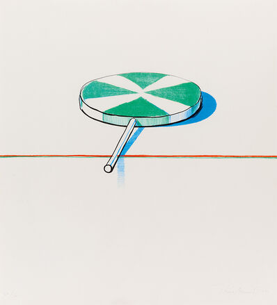 Wayne Thiebaud, 'Large Sucker (from Seven Still Lifes and a Silver Landscape)', 1971