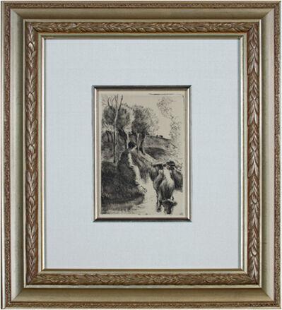 Camille Pissarro, 'Vachere Au Bord de L'eau Delteil 93', 1890