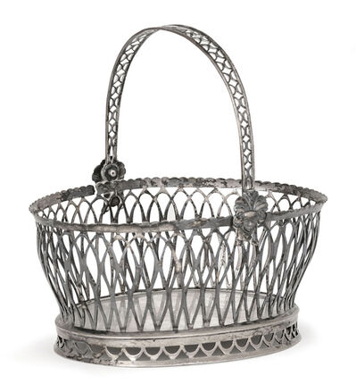 Anonymous, 'Antique Solid Silver Basket', 19th Century