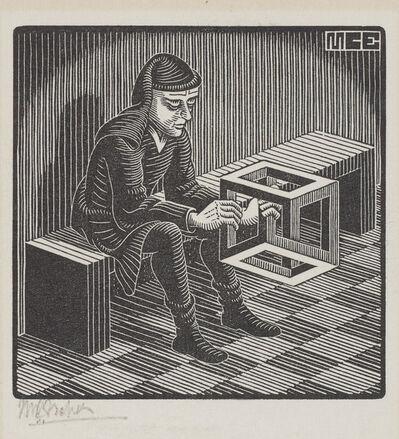 Maurits Cornelis Escher, 'Untitled (Man with Cuboid)', 1958