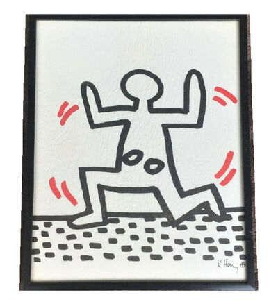 "Keith Haring, '""Dance Man 2"", Bayer Suite, Sali-Adalat, Edition of 70, Offset Lithograph on Glassine Paper, Museum Quality.', 1982"