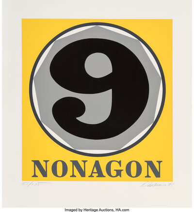 Robert Indiana, 'Nonagon, from Polygons', 1975