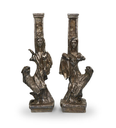 """Diego Giacometti, 'Pair of """"Dompteuse"""" table lamps'"""