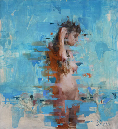 Jacob Dhein, 'Nude in Blue V', 2015
