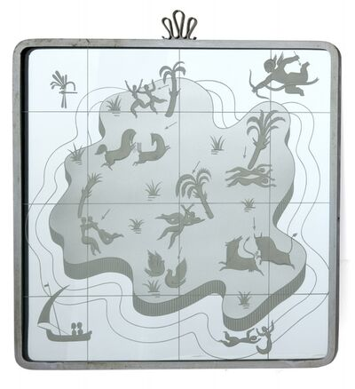 Gio Ponti, 'A wall mirror', early 1930's
