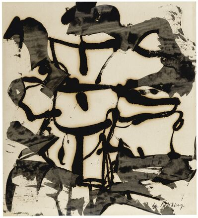 Willem de Kooning, 'Abstraction (Black and White Abstraction)', 1948