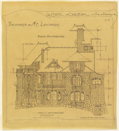 Hector Guimard, 'Rear Facade, Castel d'Orgeval, Parc Beauséjour, near Paris', 1904