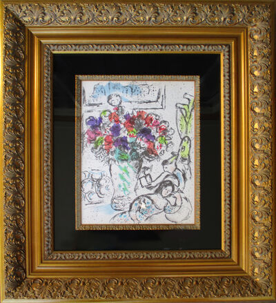 Marc Chagall, 'Les Anemones from  Lithographs IV (Frontispiece)', 1974