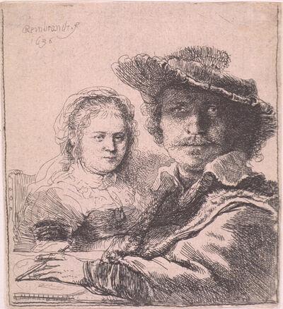 Rembrandt van Rijn, 'Self-portrait with Saskia', 1636