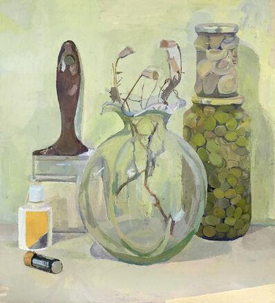 Xico Greenwald, 'Flowers, Jars, Paintbrush', 2015-2016