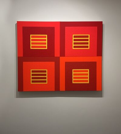 Peter Halley, 'Four Red Prisons', 2006