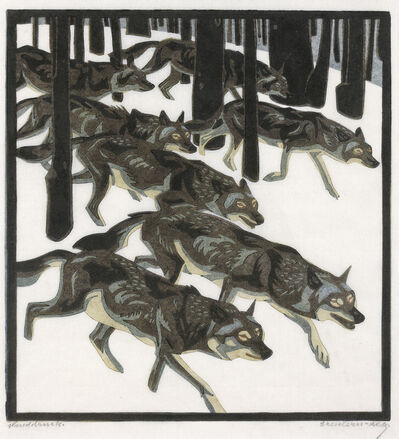 Norbertine Bresslern-Roth, 'Wolves', 1926