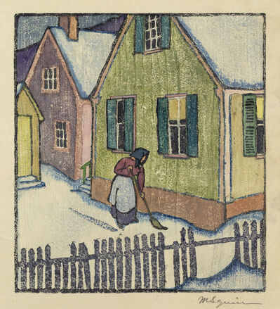 Maud Hunt Squire, 'Untitled (Sweeping Snow, Provincetown)', ca. 1917