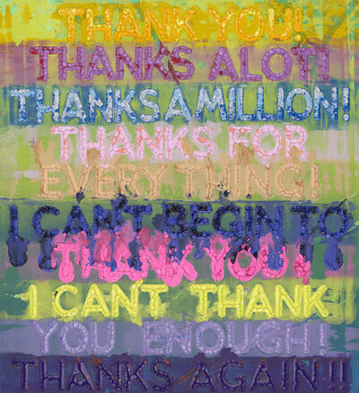 Mel Bochner, 'Thank You', 2020