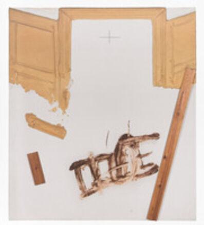 Antoni Tàpies, 'Cadira i fustes', 2002