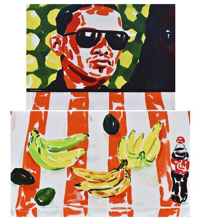 Emilio Lameiras, 'Caribeño naranja (díptico de módulos desiguales)', 2019
