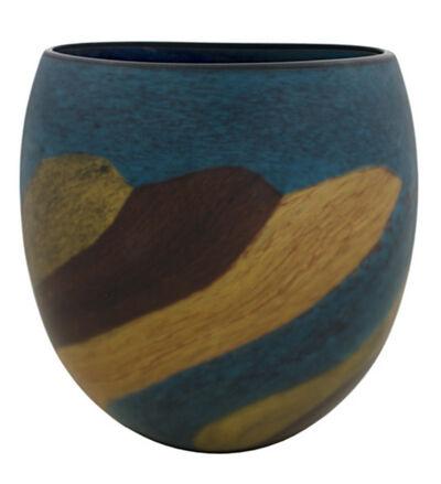 Ioan Nemtoi, 'Brown-Green Matte Eliptical Vase', 2005