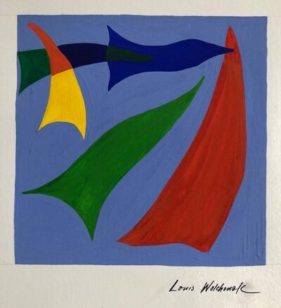 Louis Wolchonok, 'Early Abstract Expressionist Gouache Painting WPA Jewish Artist', 20th Century