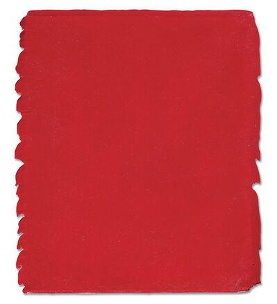 Bernard Aubertin, 'Monochrome Rouge 147', 1996