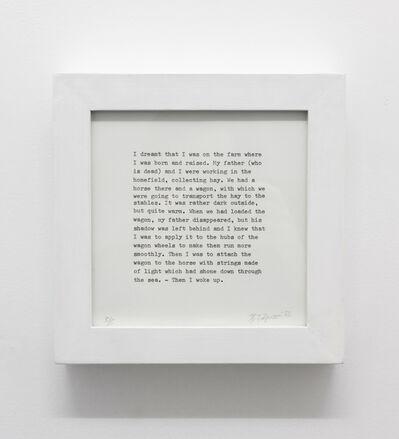 Hreinn Fridfinnsson, 'Dream', 1973