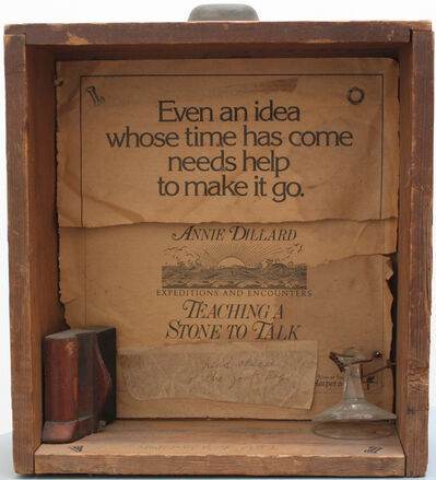 George Herms, 'Teaching a Stone to Talk for Annie', 1982