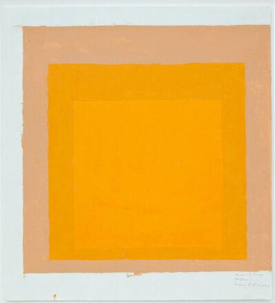 Josef Albers, 'Studie zu Homage to the Square', ca. 1960s