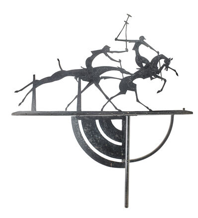William Hunt Diederich, 'Weathervane, Polo Players, USA'