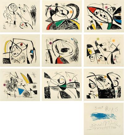 Joan Miró, 'Série Mallorca (Mallorca Series) (D. 610-619, C. 177)', 1973