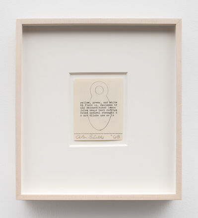 Alan Shields, 'Untitled (typed drawing) (double-sided)', 1968