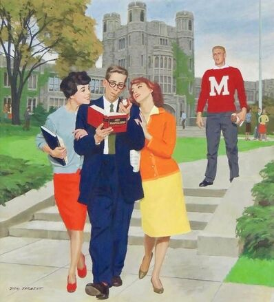 Richard Sargent, 'Picking Poindexter, Saturday Evening Post Cover', 1959