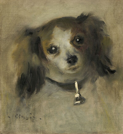 Pierre-Auguste Renoir, 'Head of a Dog', 1870