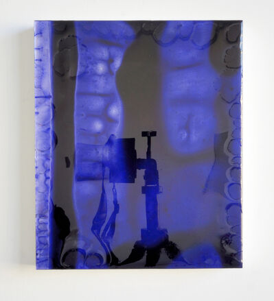 Carrie Yamaoka, '12 by 10 (deep blue) redux', 2011