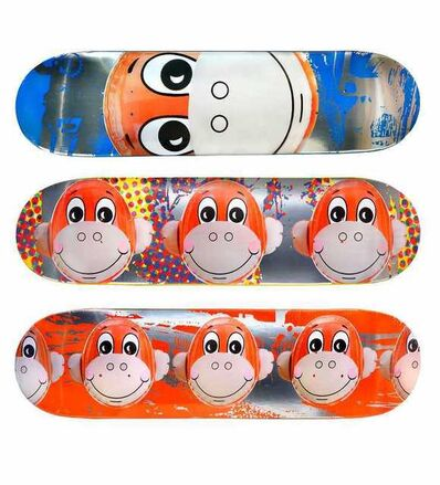 Jeff Koons, 'Monkey Train - Supreme skateboard decks', 2006
