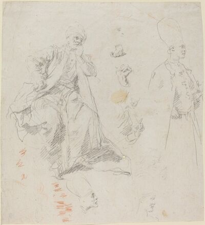 Giovanni Battista Piazzetta, 'Caliph Aladin and His Counselors', late 1730s