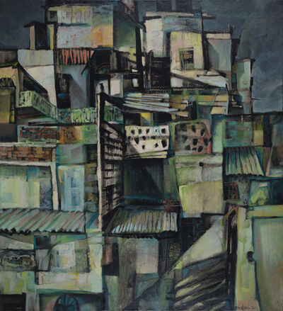 Bikash Bhattacharjee, 'Untitled (Rooftops)', 1964