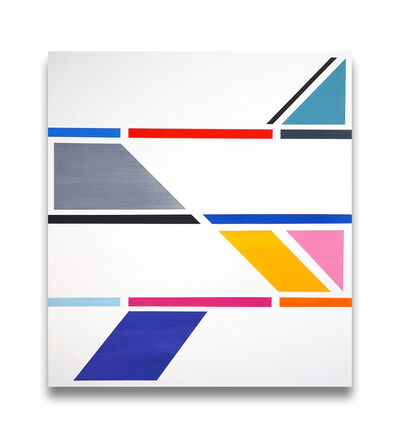 Jessica Snow, 'Intersecting Rays (Abstract painting)', 2015